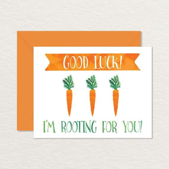 Printable Good Luck Cards Funny Good Luck Card Printable Good Luck Card Ve Ables