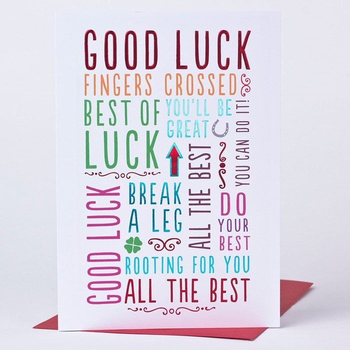 Printable Good Luck Cards Good Luck Card Best Luck