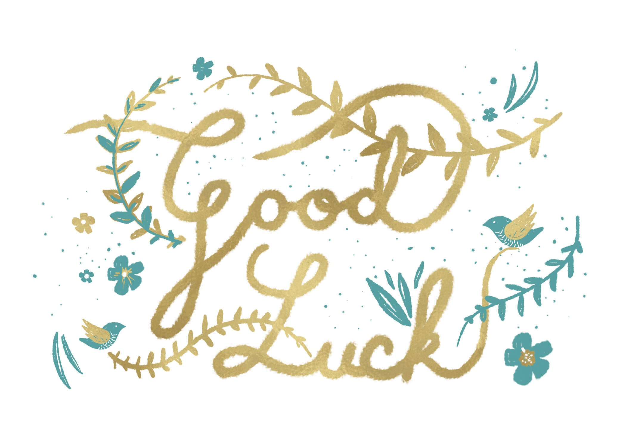Printable Good Luck Cards Natural Luck Good Luck Card Free