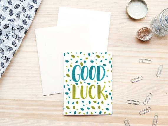 Printable Good Luck Cards Printable Good Luck Folded Card 5 5x4 25