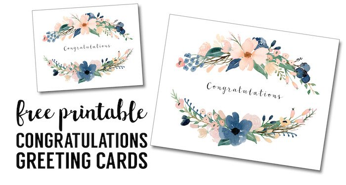 Printable Greetings Cards Templates Congratulations Card Printable Free Printable Greeting