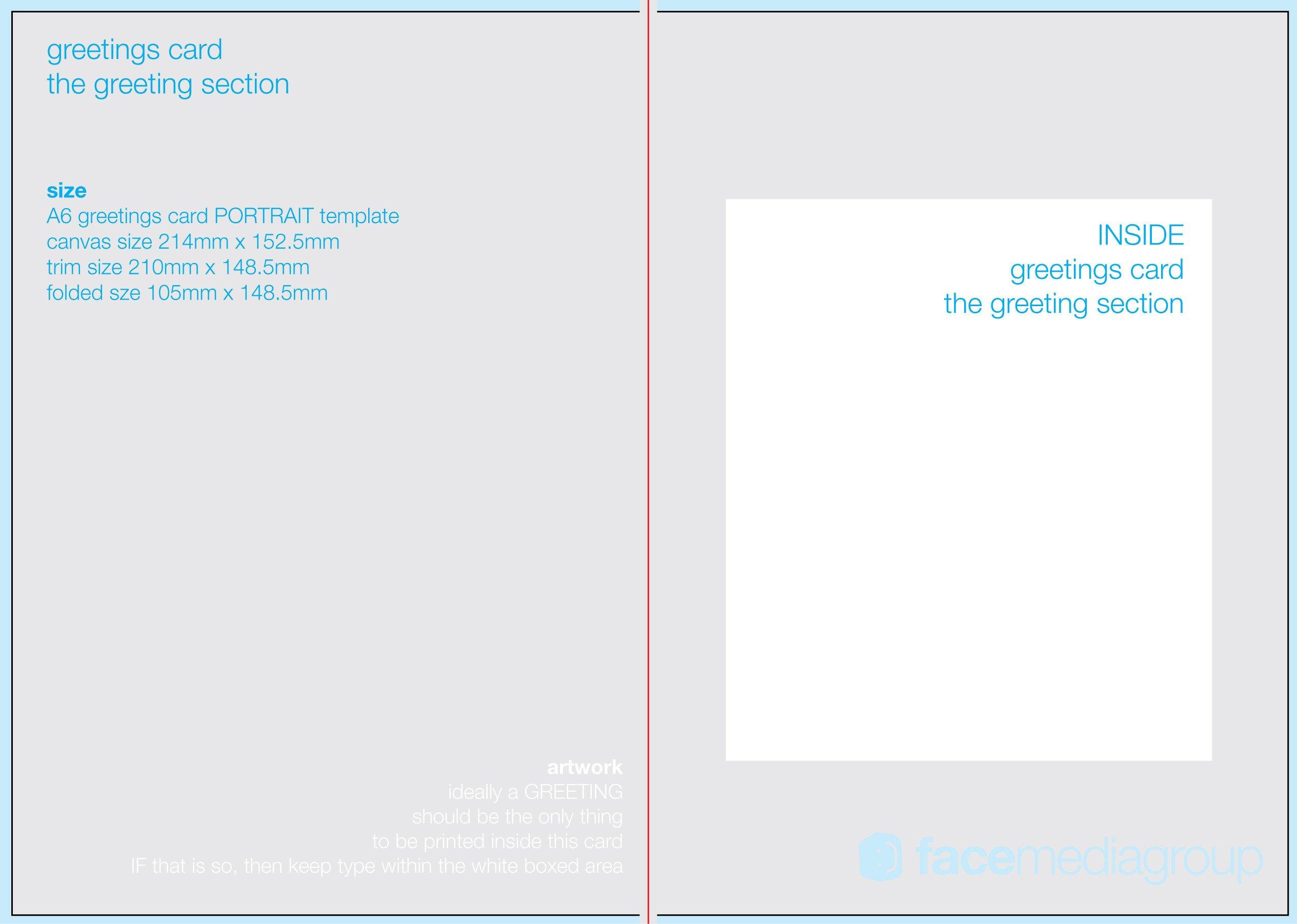 Printable Greetings Cards Templates Free Blank Greetings Card Artwork Templates for Download