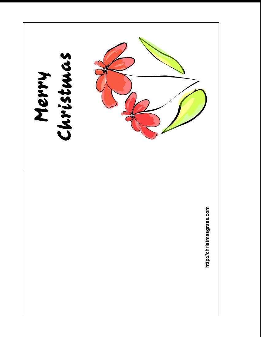 Printable Greetings Cards Templates Free Printable Christmas Greeting Cards