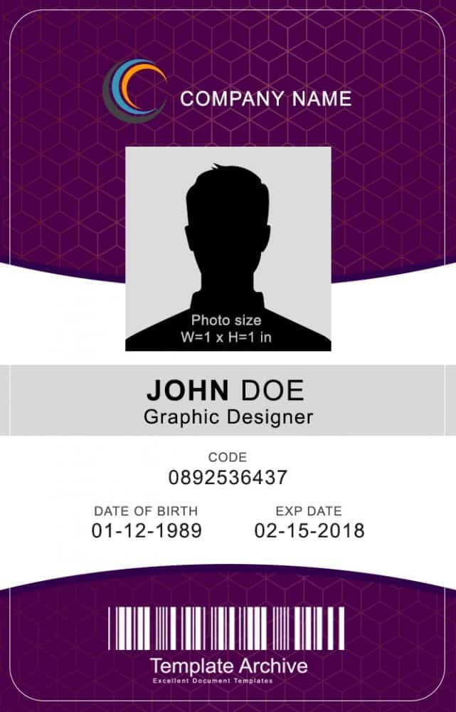Printable Id Card Template 16 Id Badge & Id Card Templates Free Template Archive