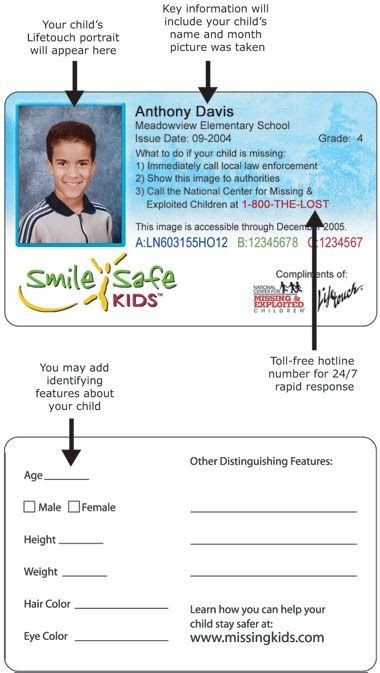 Printable Id Card Template 26 Best Images About Dyi Kids Id Cards You Can Put