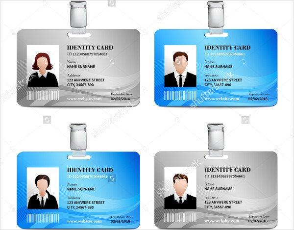 Printable Id Card Template 32 Id Card Templates Word Psd Ai Pages