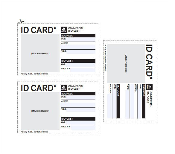 Printable Id Card Template 36 Amazing Id Card Templates Ai Word Apple Pages