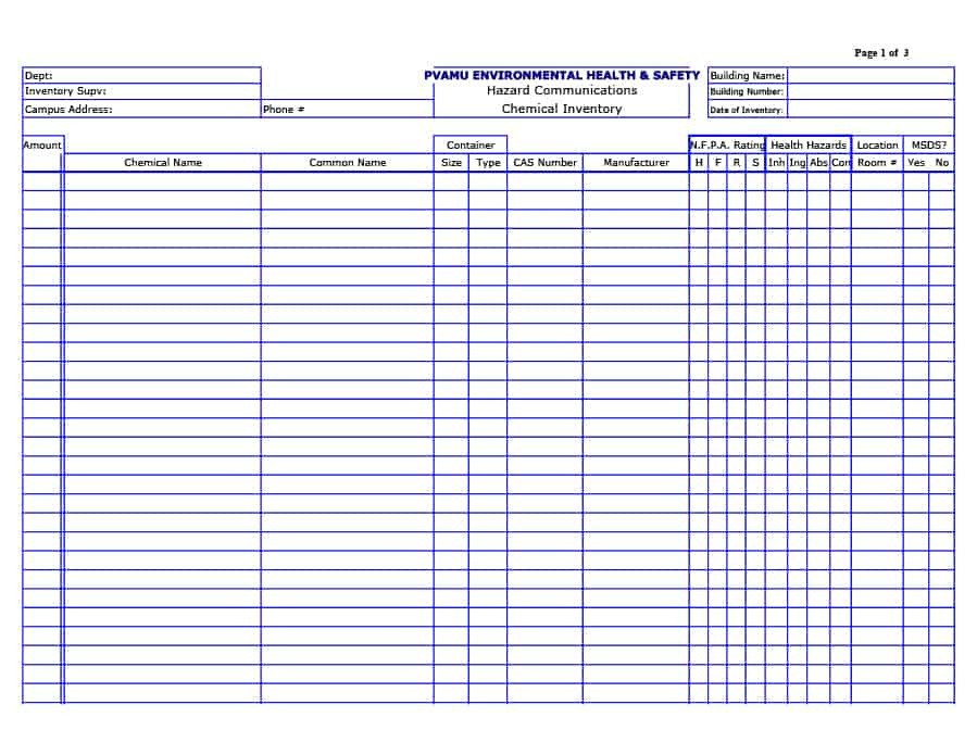 Printable Inventory List Template 45 Printable Inventory List Templates [home Fice