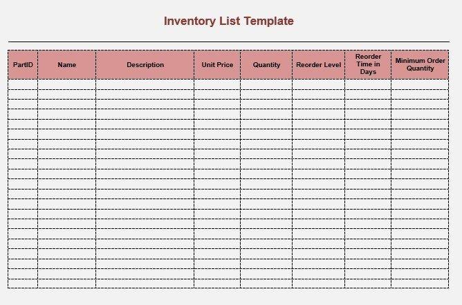 Printable Inventory List Template 8 Free Sample Moving Inventory List Templates Printable