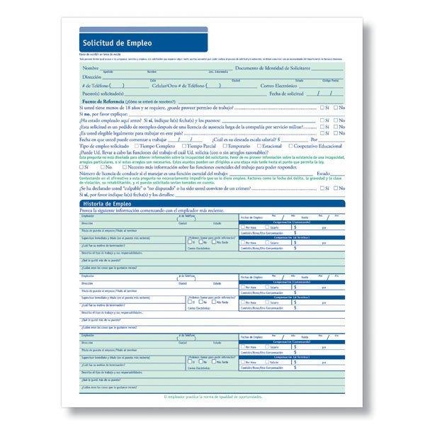 Printable Job Application In Spanish Blank Job Applications In Spanish for Hourly Positions