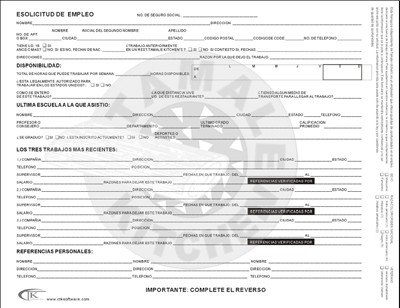 Printable Job Application In Spanish Line Job Application 5