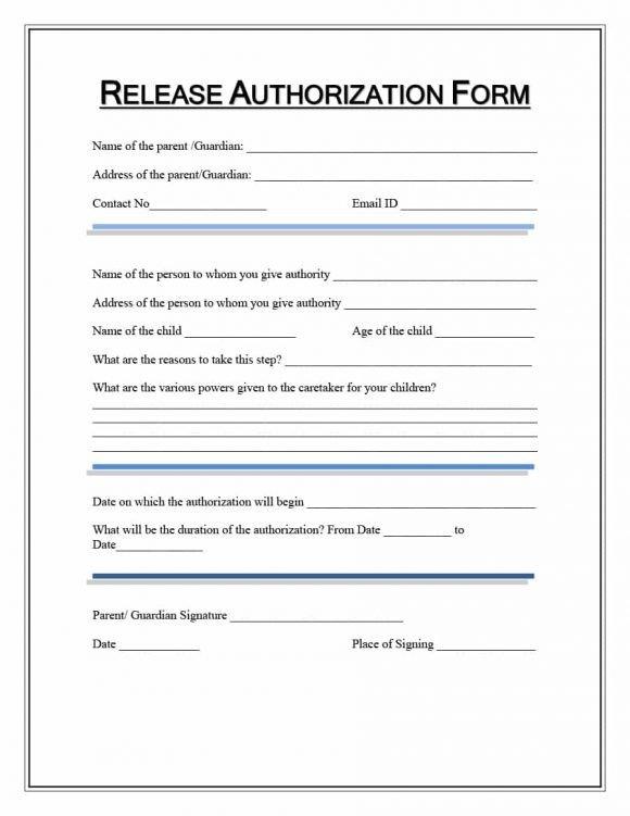 Printable Medical Release form 40 Medical Records Release form Release Of Information