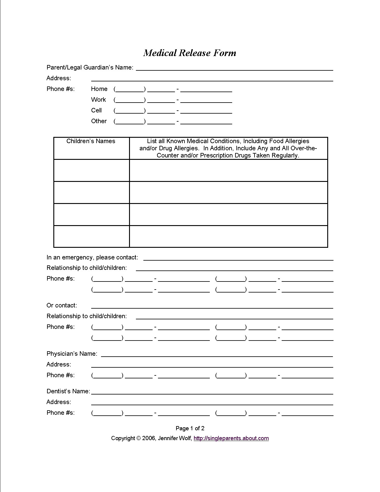 Printable Medical Release form Medical Consent form when You Might Need E