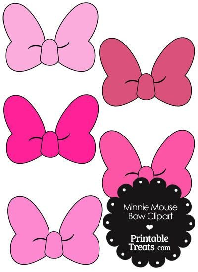 Printable Minnie Mouse Bow Minnie Mouse Bow Clipart In Shades Of Pink From