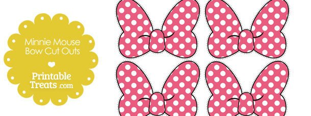Printable Minnie Mouse Bow Pink Minnie Mouse Bow Cut Outs — Printable Treats