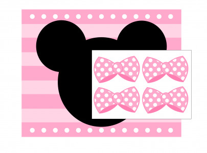 Printable Minnie Mouse Bows Free Pink Minnie Mouse Printables Extras