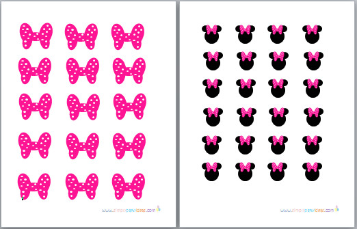 Printable Minnie Mouse Bows Minnie Mouse Free Bow Printables Clipart Best