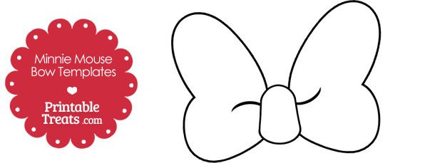 Printable Minnie Mouse Bows Printable Minnie Mouse Bow Template — Printable Treats