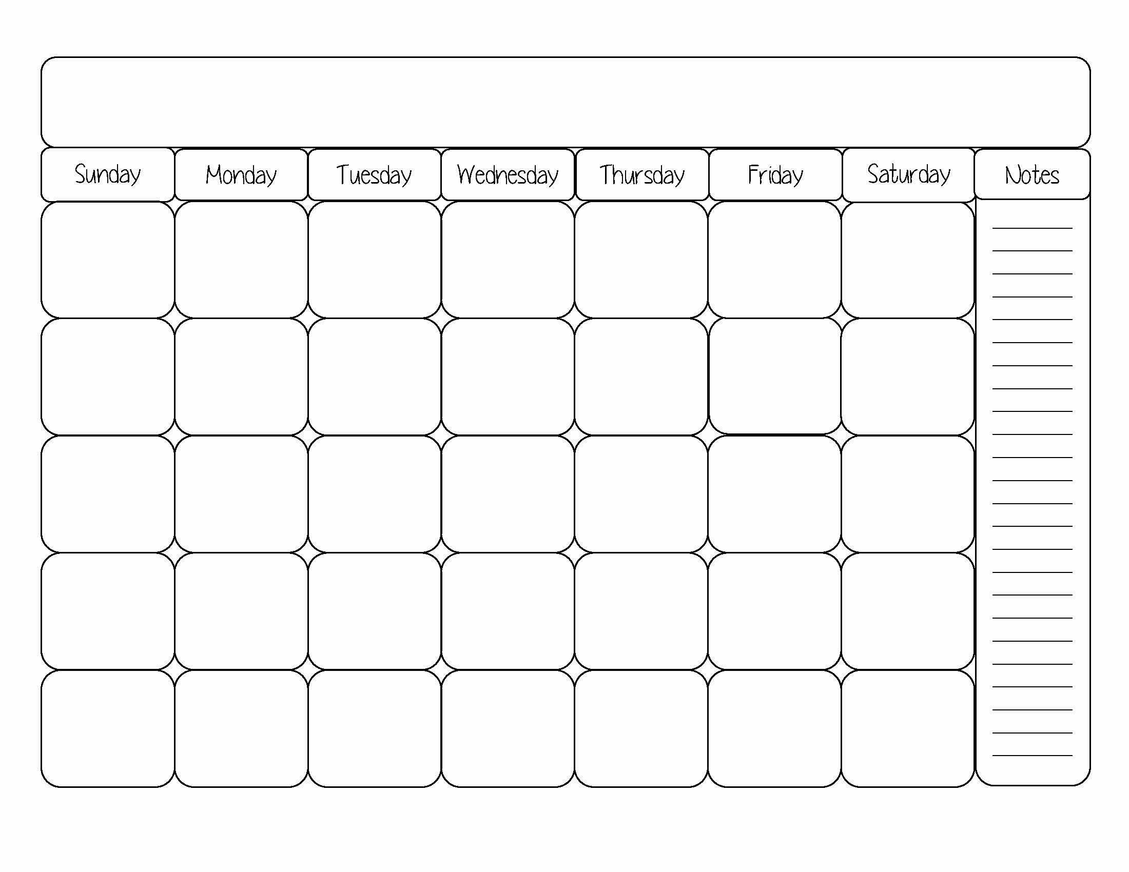 Printable Monthly Calendar Template Printable Calendar Dr Odd