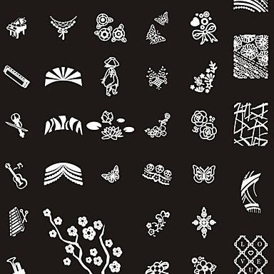 Printable Nail Art Stencils 249 Designs Nail Art Stamp Image Plate Big Nail Art