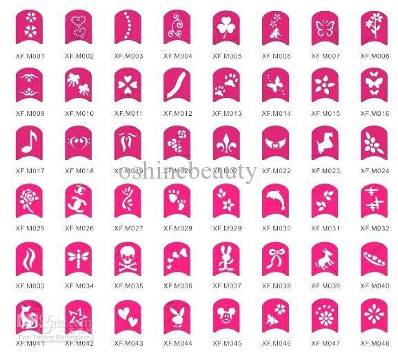Printable Nail Art Stencils 37 Printable Nail Design Stencils Stylepics