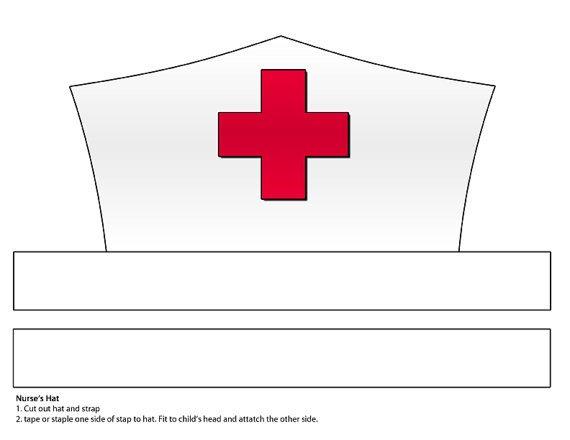 Printable Nurse Hat Template Digital Download Paper Nurse S Hat Printable