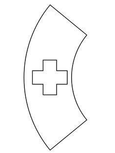 Printable Nurse Hat Template Outline Nurses Scrub Shirt Sketch Coloring Page