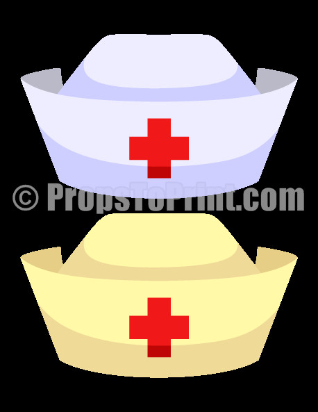 Printable Nurse Hat Template Pin by Muse Printables On Booth Props at