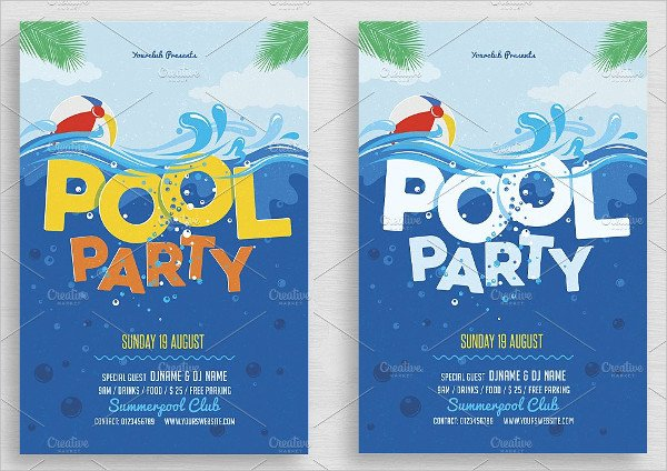 Printable Pool Party Invitations 33 Printable Pool Party Invitations Psd Ai Eps Word