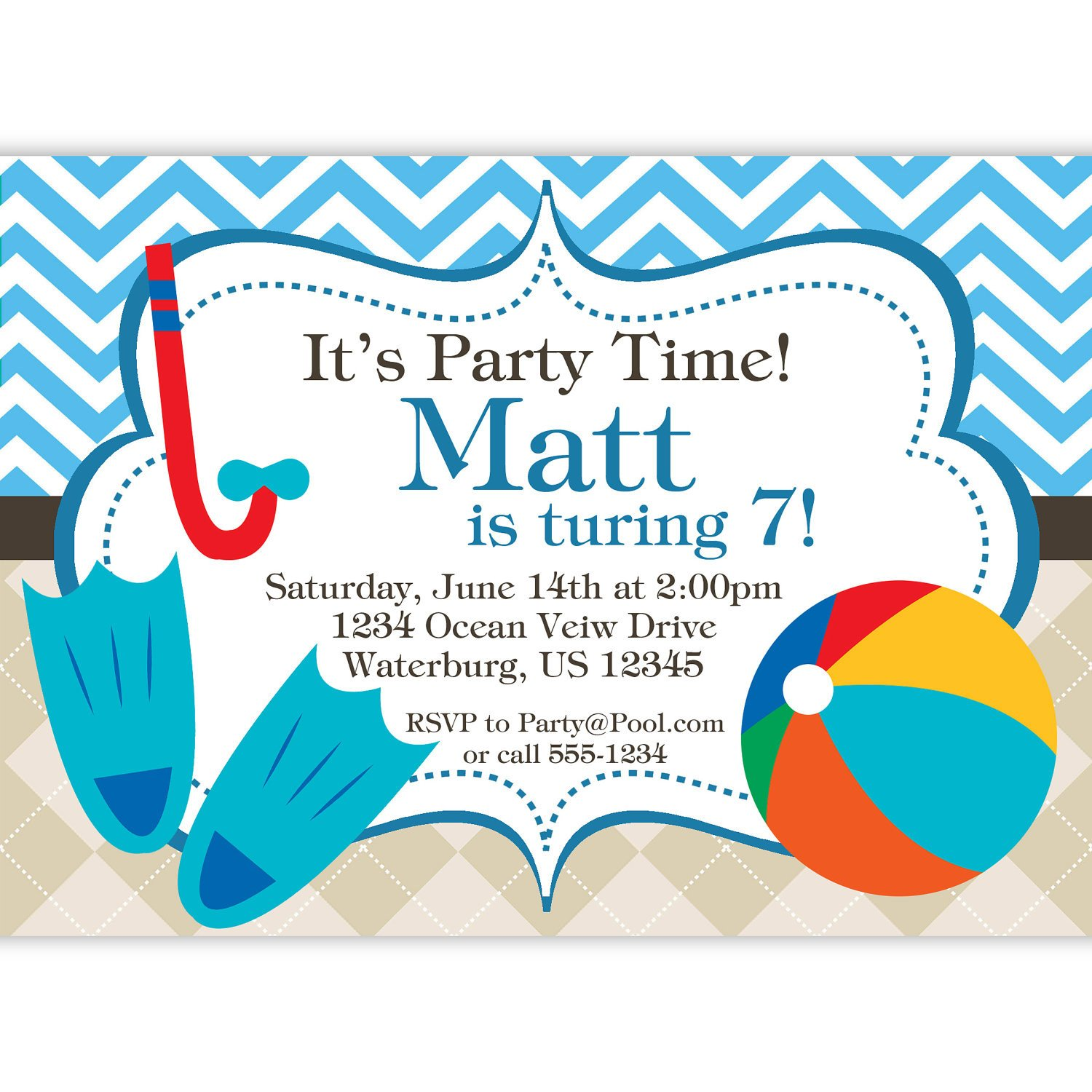 Printable Pool Party Invitations Free Printable Birthday Pool Party Invitations