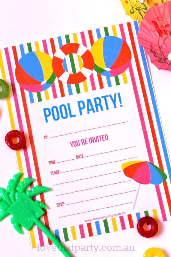 Printable Pool Party Invitations Free Printable Summer Pool Party Invitation the Girl