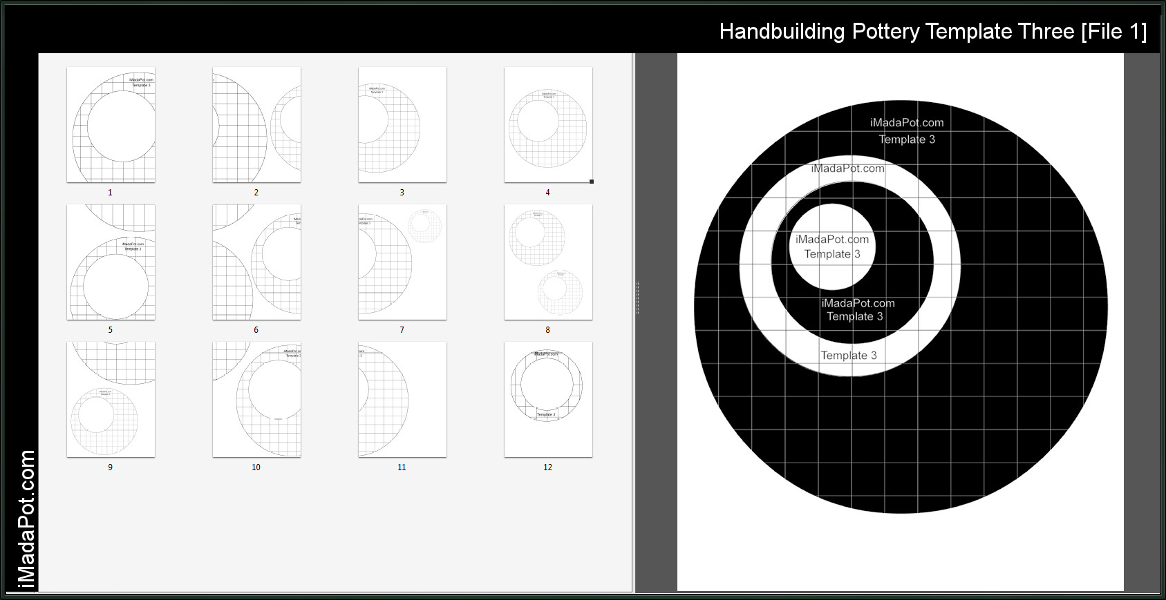 Printable Pottery Templates Free Pottery Clay Handbuilding Templates