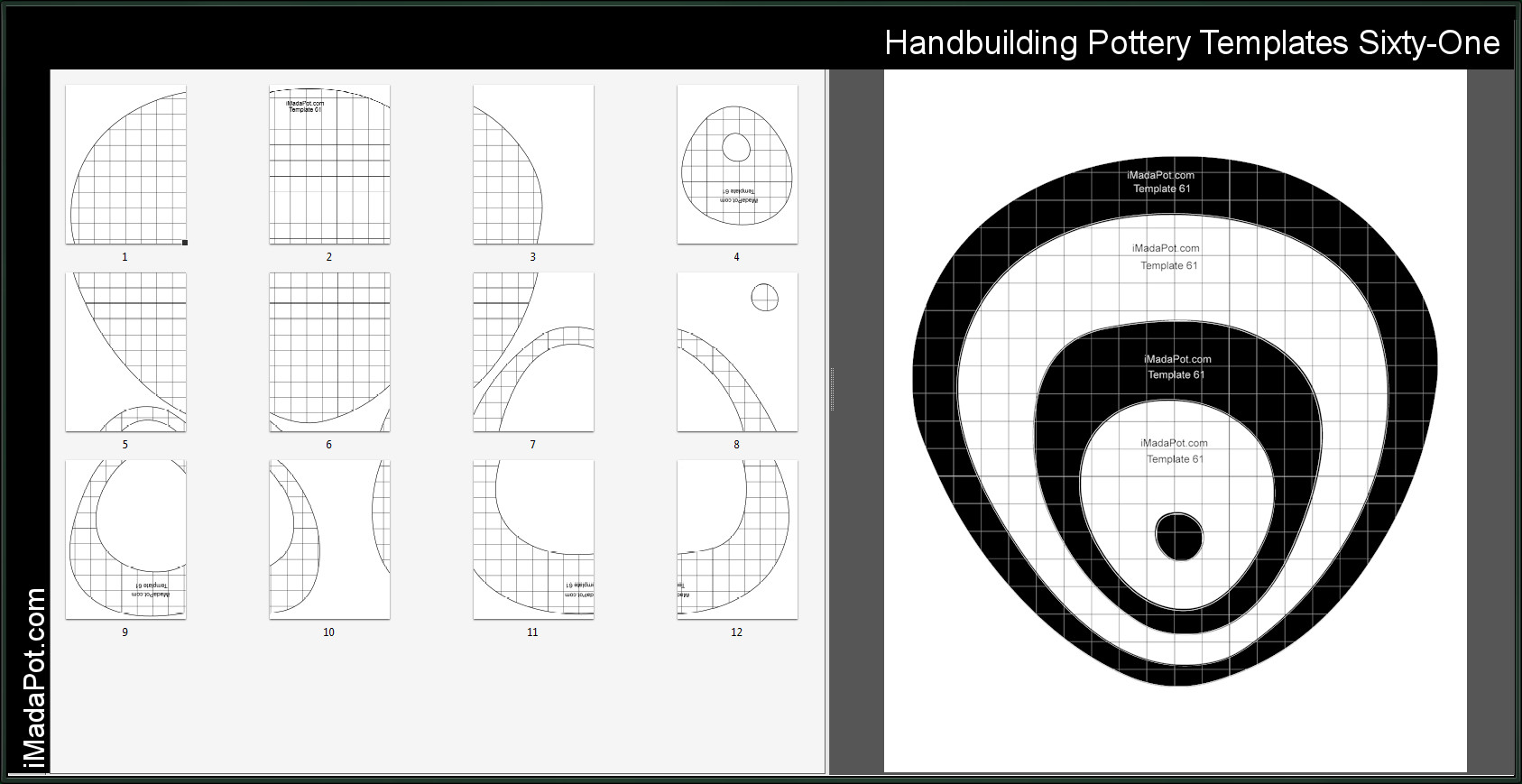 Printable Pottery Templates Printable Pottery Templates Handbuilding Patterns