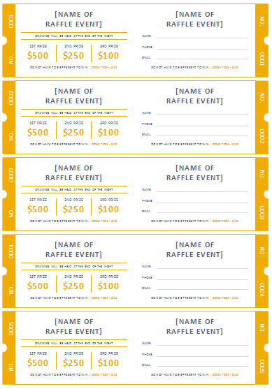 Printable Raffle Tickets Template 45 Raffle Ticket Templates
