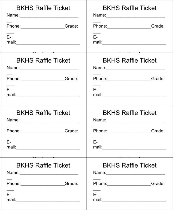 Printable Raffle Tickets Template Best 25 Free Raffle Ticket Template Ideas On Pinterest