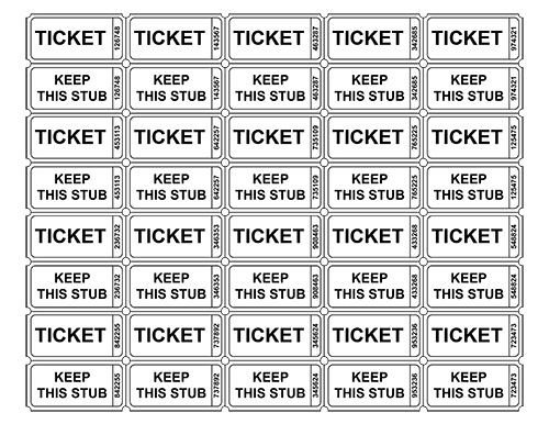 Printable Raffle Tickets Template Best 25 Printable Raffle Tickets Ideas On Pinterest