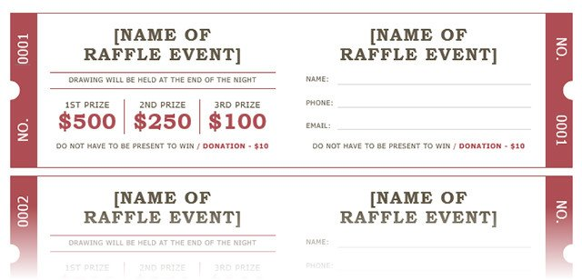 Printable Raffle Tickets Template How to Get A Free Raffle Ticket Template for Microsoft Word