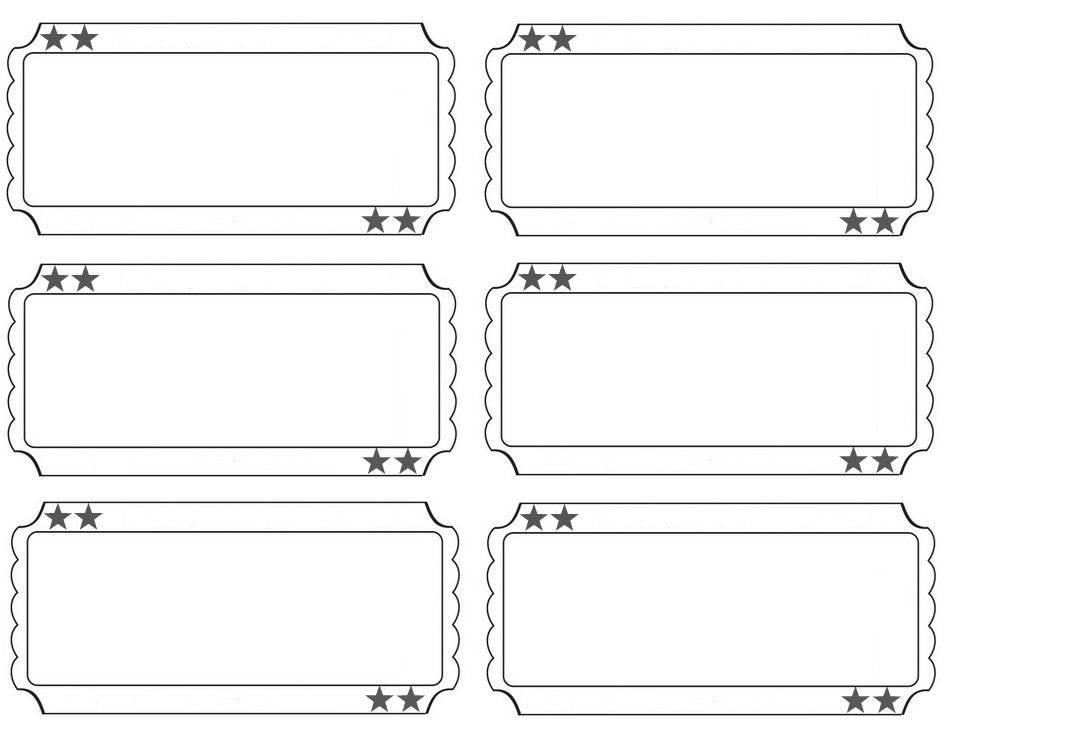 Printable Raffle Tickets Template Printable Raffle Tickets Blank Kids Google Search