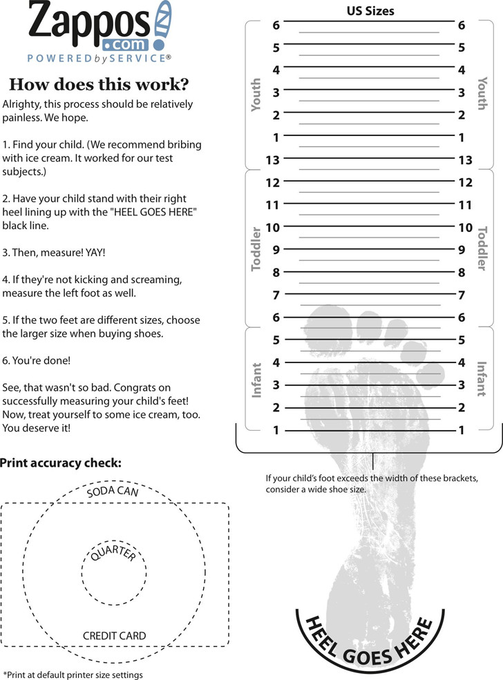 Printable Shoe Size Chart 28 Of Adult Foot Measurement Template