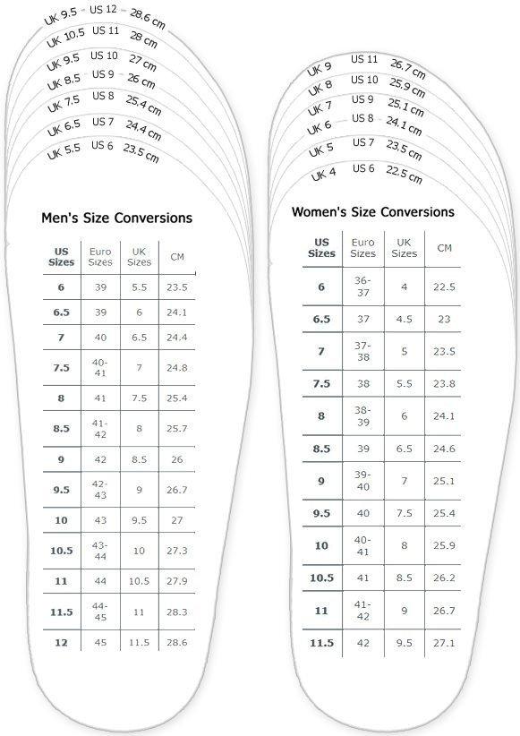 Printable Shoe Size Chart Best 25 Shoe Size Conversion Ideas On Pinterest
