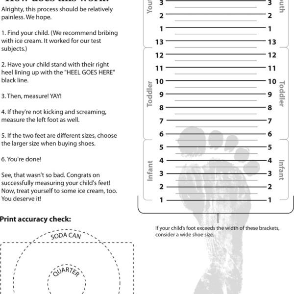 Printable Shoe Size Chart Children Shoe Size Chart Printable – Dolapgnetband