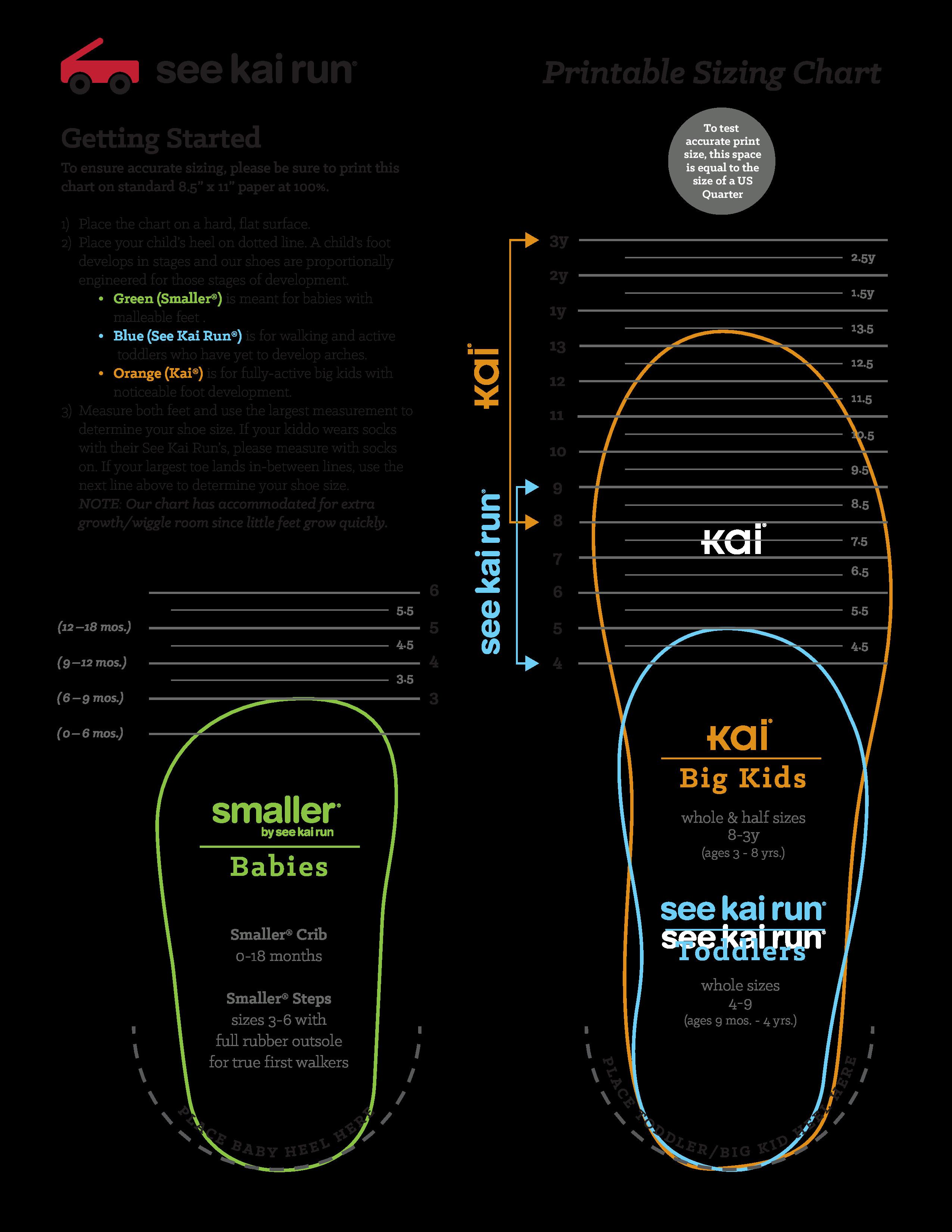 Printable Shoe Size Chart Printable Baby Shoe Size Chart