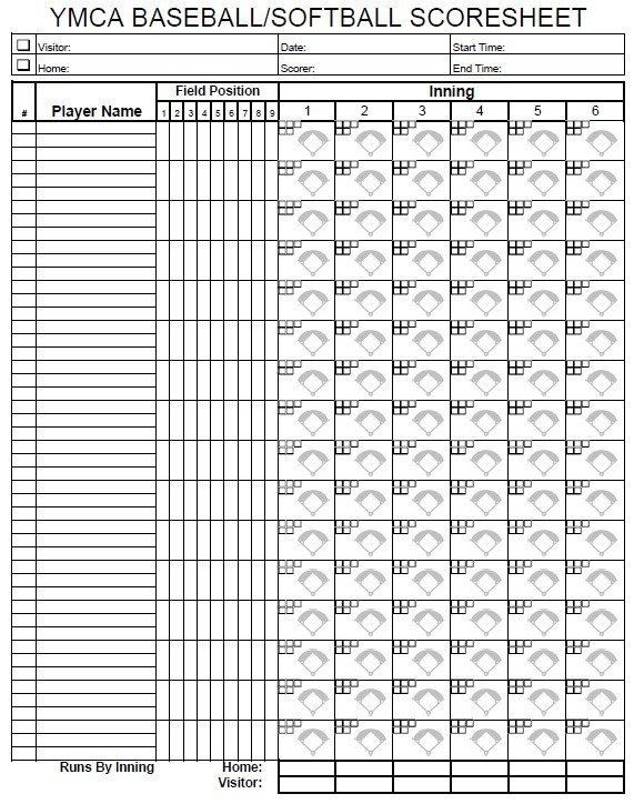 Printable softball Score Sheet 13 Free Sample softball Score Sheet Templates Printable