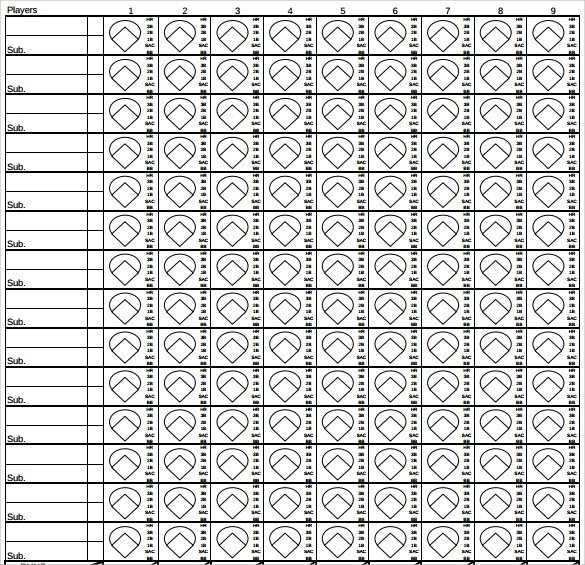 Printable softball Score Sheet Sample softball Score Sheet 10 Documents In Pdf Word
