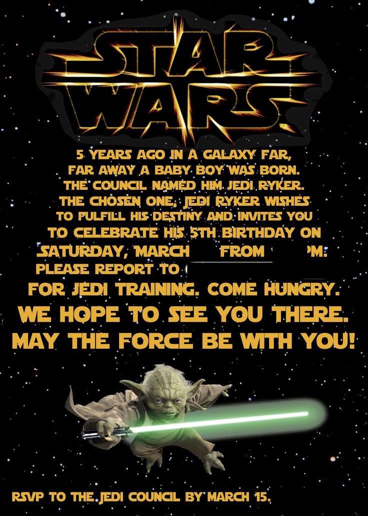 Printable Star Wars Invitation Best 25 Star Wars Invitations Ideas On Pinterest
