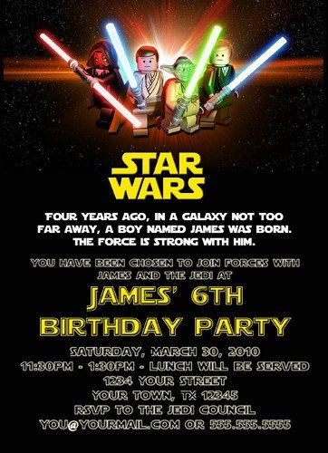 Printable Star Wars Invitation Free Printable Star Wars Birthday Invitations – Template