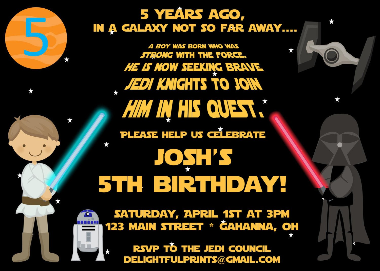 Printable Star Wars Invitation Free Printable Star Wars Birthday Party Invitations