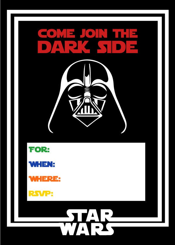 Printable Star Wars Invitation Free Star Wars Party Printables A No Stress Way to A