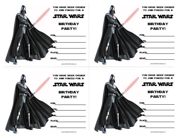 Printable Star Wars Invitation Star Wars Birthday Invitations Free Printable