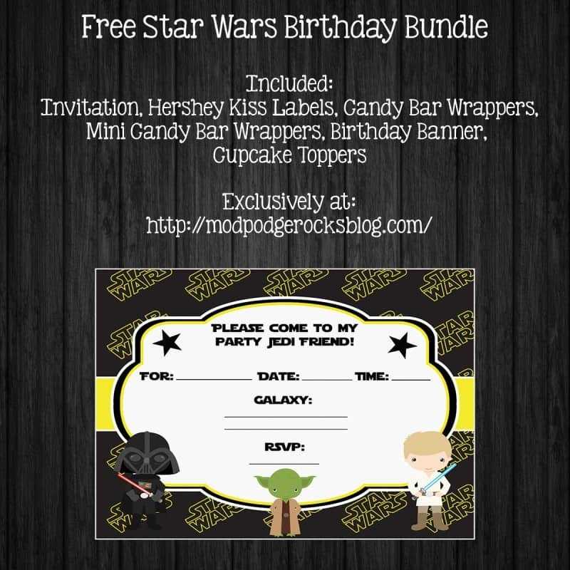 Printable Star Wars Invitation Star Wars Birthday Party Free Printable Pack Mod Podge